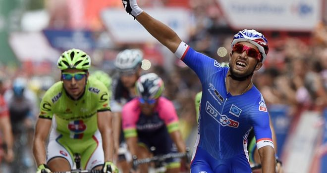 Nacer Bouhanni claimed his second win of this year's Vuelta