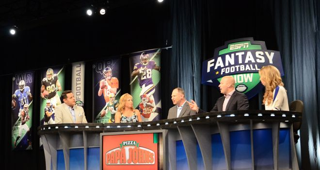 NFL Fantasy Football Live team on set ( ESPN Images)
