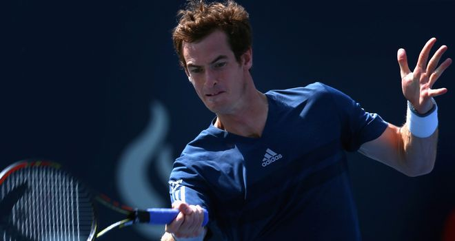 Andy Murray: Faces a red-hot Jo-Wilfried Tsonga for a place in the semi-finals