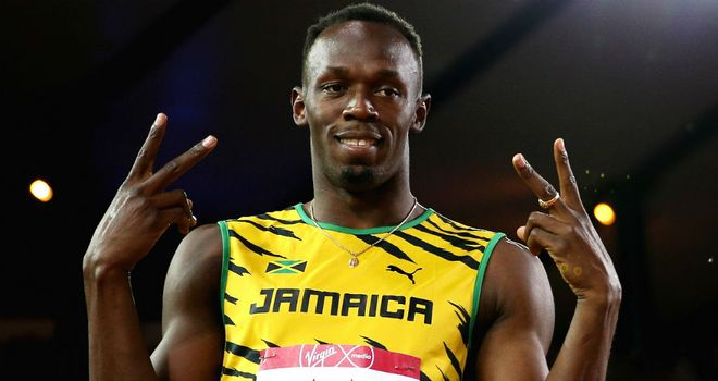 Usain Bolt: Set to anchor the Jamaican 4x100 metres team in the final session of the athletics programme