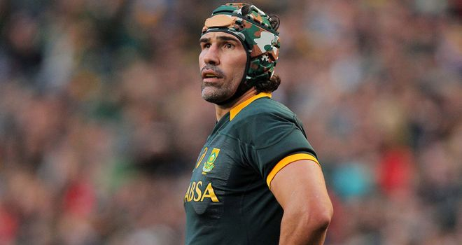 Injured Victor Matfield will miss South Africa's opening fixture of this year's Rugby Championship