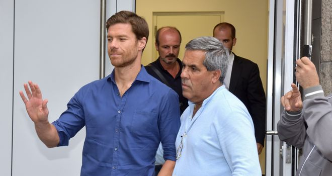 Xabi Alonso: Leaves a clinic in Munich after undergoing Bayern medical