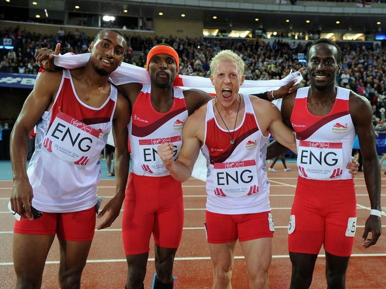 England's (left to right) Matthew Hudson-Smith, Conrad Williams, Daniel Awde and Michael Bingham