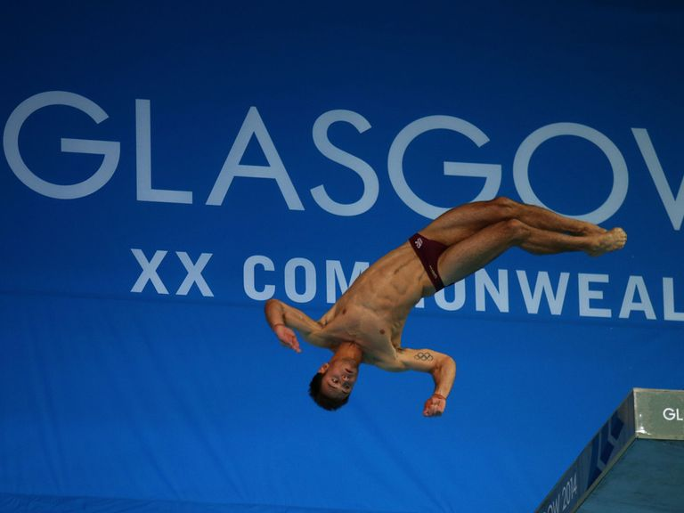England's Tom Daley during the 10m platform final