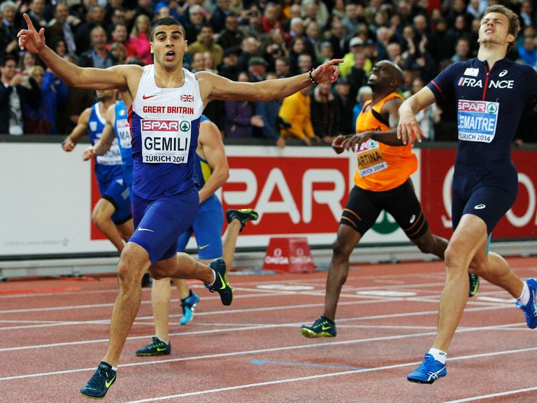 Adam Gemili wins the 200 metres in Zurich