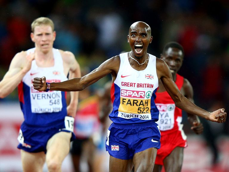 Mo Farah strikes gold in Zurich