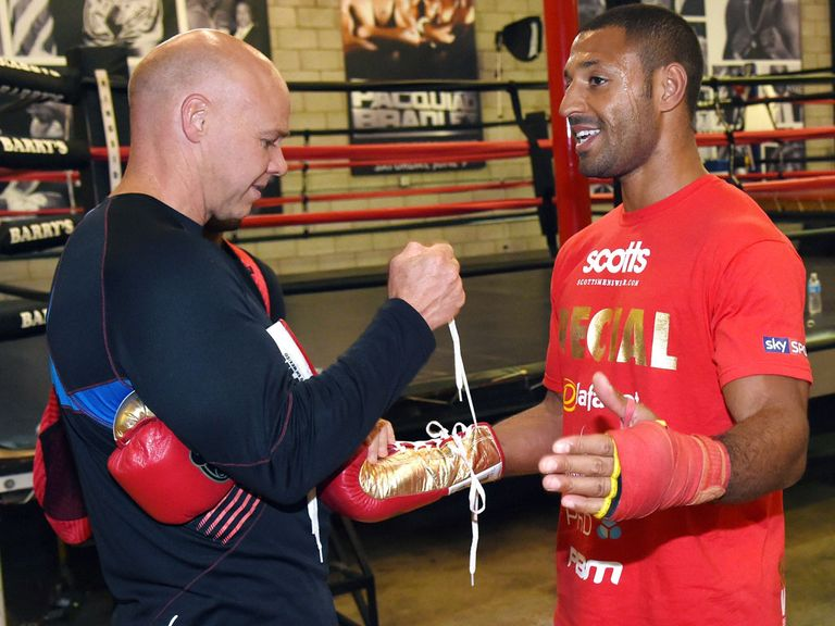 Dominic Ingle (l) expects Kell Brook to become a world champion