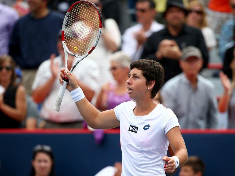 Carla Suarez Navarro: Defeated Maria Sharapova in three sets at Rogers Cup