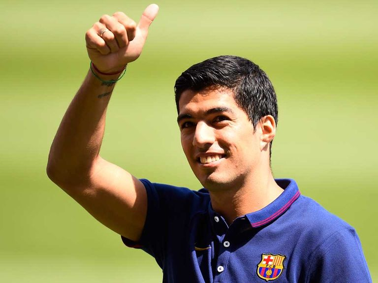 Luis Suarez: Back at Liverpool training ground