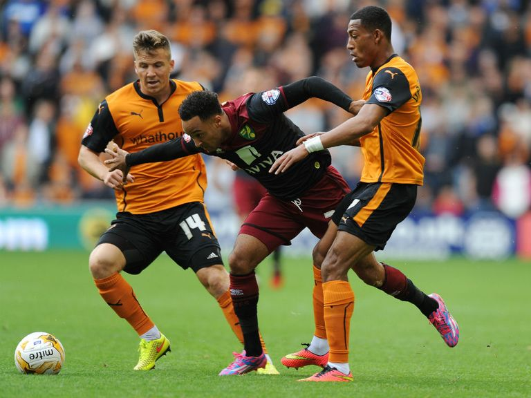 Action from Wolves v Norwich on Sunday