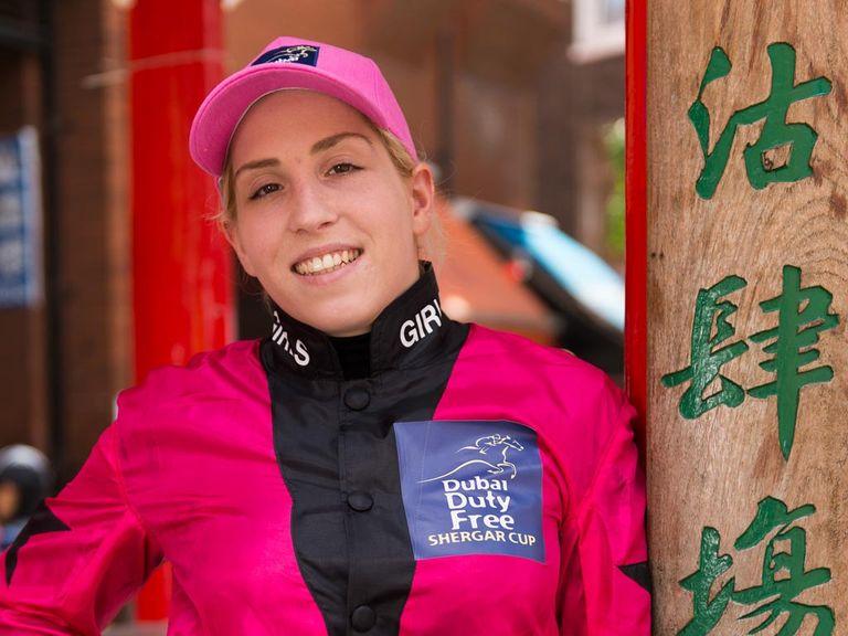Steffi Hofer can land the Shergar Cup Sprint aboard Telmeyd