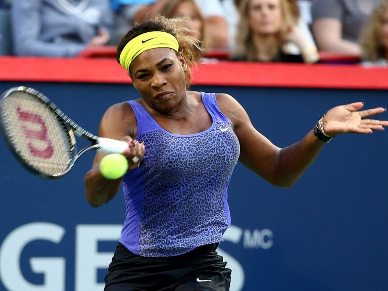 Serena Williams: In fine form as she raced past Samantha Stosur in the Rogers Cup