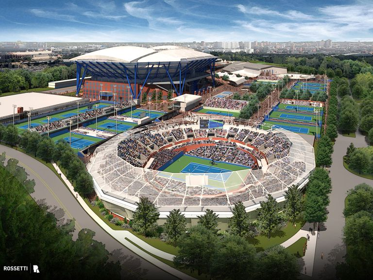 An artist's impression of the new Grandstand court