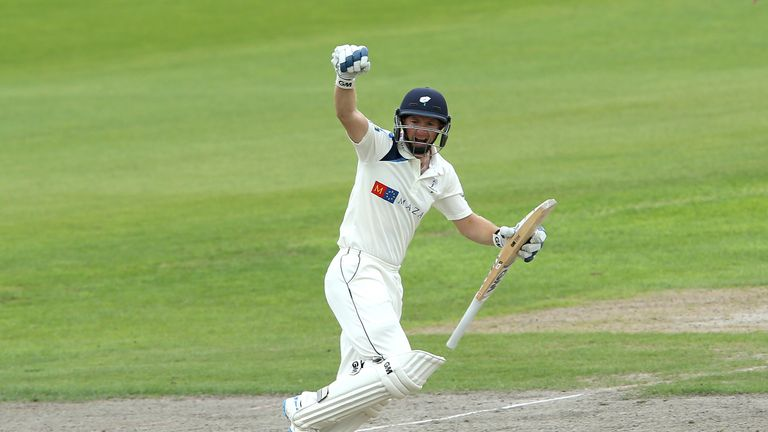 Adam Lyth: Yorkshire opener batted throughout the second day at Old Trafford