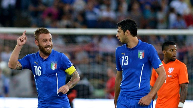 Daniele De Rossi: Celebrates penalty