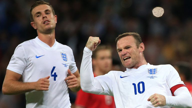 Rooney: Celebrates his goal
