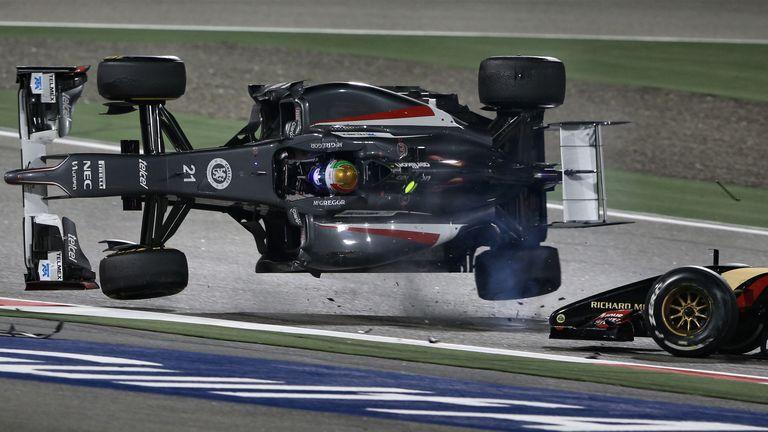Esteban Gutierrez was flipped by Pastor Maldonado