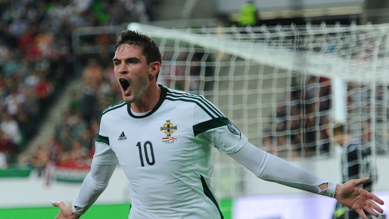 Kyle Lafferty: Wheels away after scoring the winner in 2-1 win over Hungary