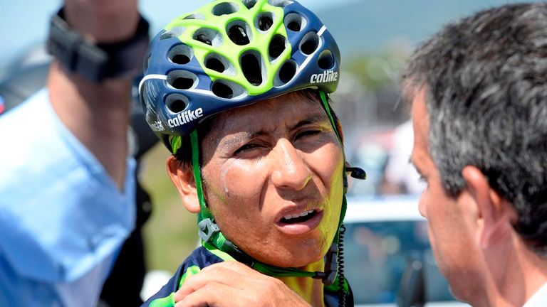Nairo Quintana quit the Vuelta after crashing for the second time in 24 hours on stage 11