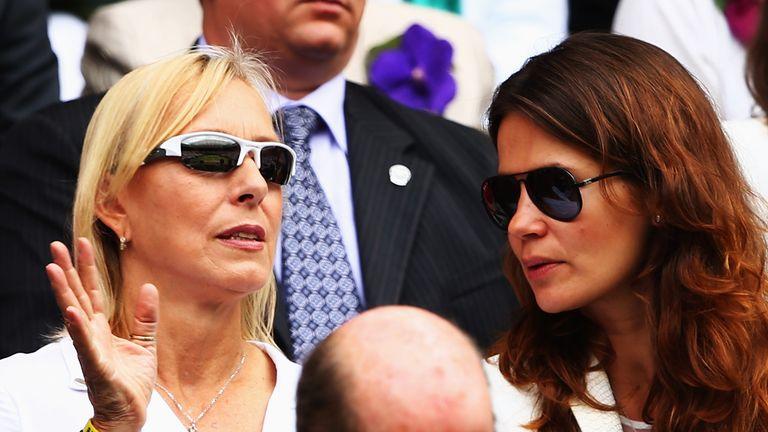 Navratilova married longtime girlfriend Julia Lemigova (R) in 2014