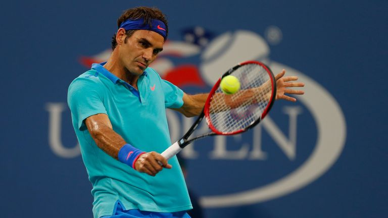 Roger Federer: Will face Gael Monfils under the lights at Arthur Ashe Stadium