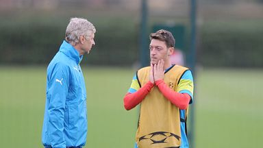 Arsene Wenger: Insists Mesut Ozil did not tell him about the pain in his knee until after the scan with Germany