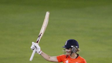 Charlotte Edwards: England skipper hit an unbeaten half-century at Chelmsford