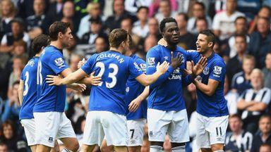 Romelu Lukaku after scoring Everton
