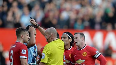 Wayne Rooney is shown a red card at Old Trafford