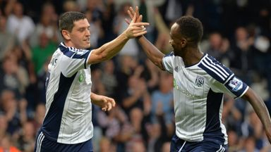 Graham Dorrans: Celebrates with team-mate Saido Berahino against Burnley