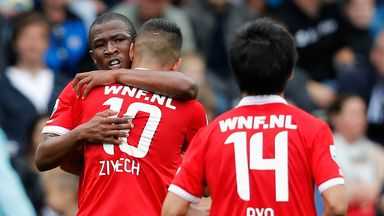 Hakim Ziyec: At the double for FC Twente