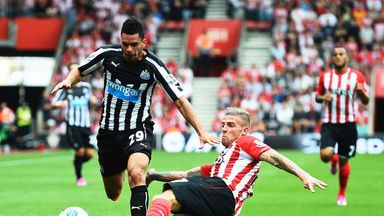 Toby Alderweireld: Southampton defender in action against Newcastle