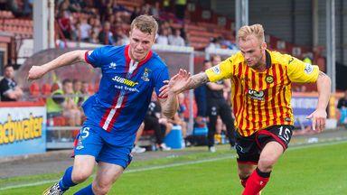 Kallum Higginbotham (right) went off last weekend against Dundee United through injury.