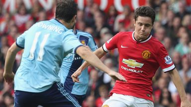 Ander Herrera in action for Manchester United against West Ham in September.