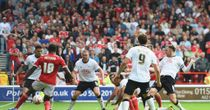 Ryan Shotton scrambles in the equaliser for Derby against Nottingham Forest