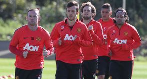 Manchester United train ahead of West Ham clash