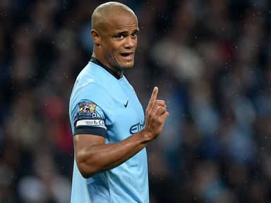 Vincent Kompany: Had an excellent game against title rivals Chelsea