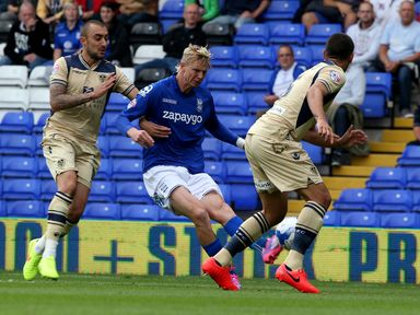 Brek Shea in action on his Birmingham debut