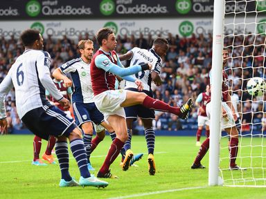 Saido Berahino scores the first of his two goals