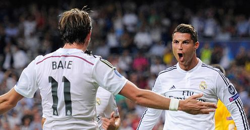 Gareth Bale and Cristiano Ronaldo: Celebrate Ronaldo's goal