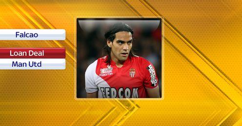 Radamel Falcao: Moves closer to a transfer to Manchester United.