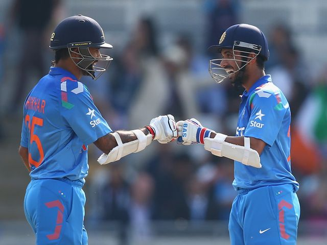 Shikhar Dhawan and Ajinkya Rahane led the way for India