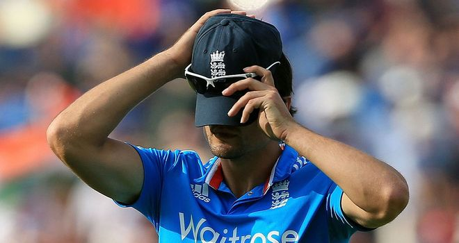 Alastair Cook's position as captain of the England one-day side has been questioned