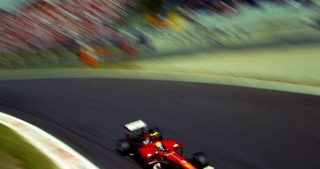 Felipe Massa at Parabolica in the 2013 Italian GP