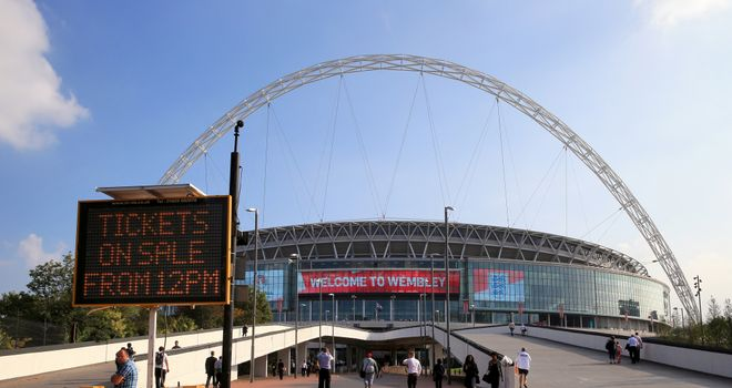 Wembley Stadium: Potential venue for the Euro 2020 final