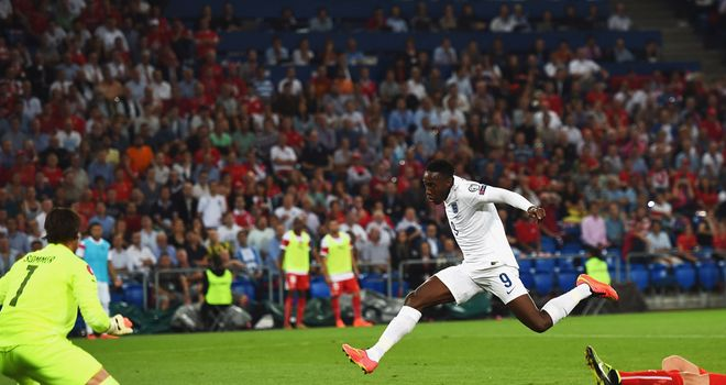 Danny Welbeck: Scores the first England goal