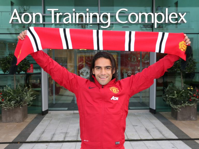 New Manchester United striker Radamel Falcao