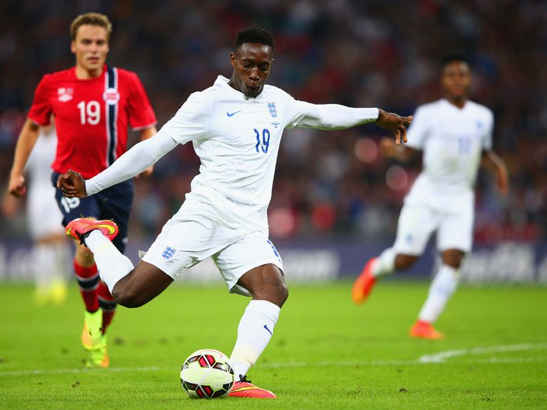 Danny Welbeck in action for England