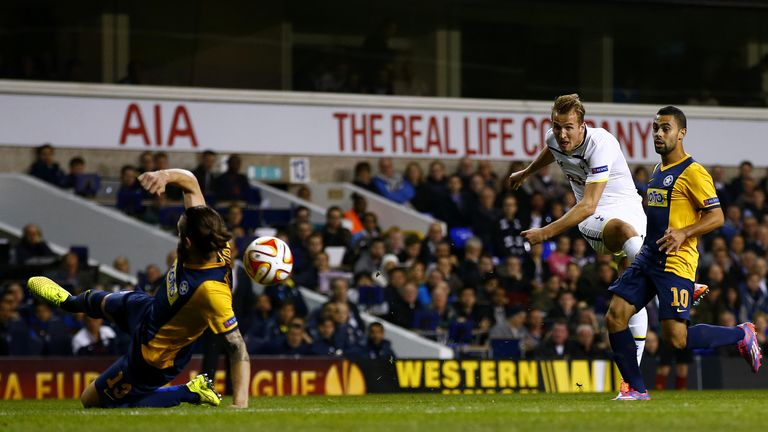 Kane: Strikes the opener for Tottenham