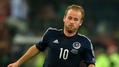 Barry Bannan: Scotland midfielder in action against Germany last month